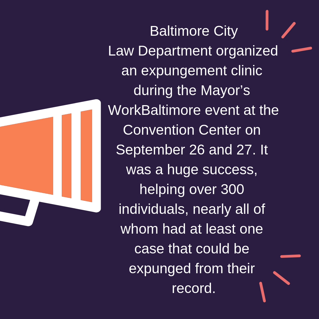 Expungement Clinic A Success!